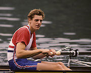 Bled, Slovenia, YUGOSLAVIA. GBR M4+, Terry DILLON,    Coxed Fours, 1989 World Rowing Championships, Lake Bled. [Mandatory Credit. Peter Spurrier/Intersport Images]