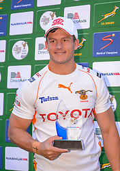 Man of the Match Shaun Venter of the Free State Cheetahs during the Currie Cup Premier division match between the The Free State Cheetahs and Griquas held at Toyota Stadium (Free State Stadium), Bloemfontein, South Africa on the 1st October 2016<br /> <br /> Photo by:   Frikkie Kapp / Real Time Images
