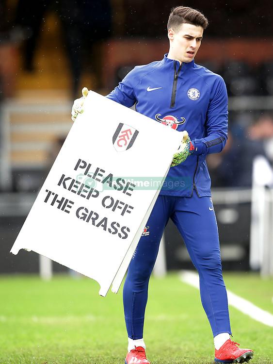 Chelsea goalkeeper Kepa Arrizabalaga during the Premier League match at Craven Cottage, London.