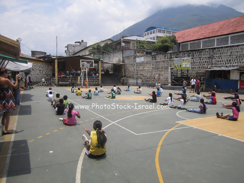 Guatemala, San Pedro La Laguna, Children in a schoolyard