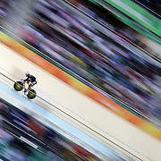 Track Cycling - Olympics: Day 6  Phillip Njisane, #151 of Trinidad and Tobago, in action in the Men's Sprint Qualification during the track cycling competition at the Rio Olympic Velodrome August 12, 2016 in Rio de Janeiro, Brazil. (Photo by Tim Clayton/Corbis via Getty Images)