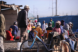 South Africa - Cape Town - 07 July 2020 - Pholile Informal settlement residents are angry at City of Cape Town who is removing temporary toilets called Mshengu in Pholile Strand without consulting anyone including the councilors of the area. Pholile have plus minus 700 house but  have 58 temporary toilets and 1 tap for the whole area. Photographer Ayanda Ndamane/African News Agency(ANA)