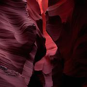 Unique slot canyon on the Navajo Reservation, Arizona.