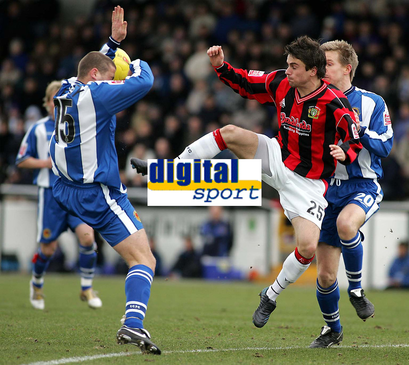 Photo: Paul Thomas. Chester City v Yeovil Town. Deva Stadium, Chester. Coca Cola League Two. 19/02/2005.
