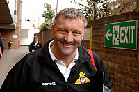 Photo: Daniel Hambury.<br />Brentford v Doncaster Rovers. Coca Cola League 1. 25/03/2006.<br />Doncaster's managere Dave Penney is all smiles after an away win.