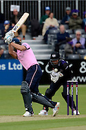 Geraint Jones in action during the NatWest T20 Blast South Group match between Gloucestershire County Cricket Club and Middlesex County Cricket Club at the Bristol County Ground, Bristol, United Kingdom on 15 May 2015. Photo by Alan Franklin.