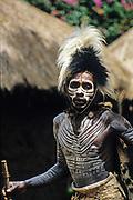 Kikuyu warriors wearing headdress made of bird's feathers. Photographed at Thomson's Falls Kenya