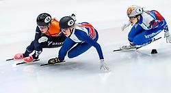 13-01-2019 NED: ISU European Short Track Championships 2019 day 3, Dordrecht<br /> Elise Christie #41 GBR, Lara van Ruijven #16 NED, Sofia Prosvirnova #4 RUS
