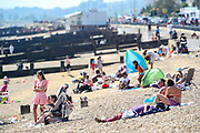 People enjoy the sunny day in Southend on Sea on Wednesday, Jun 2, 2021. It was the third day this week that the record for the hottest temperature of 2021 has been broken British tabloids say. (Photo by Vudi Xhymshiti)