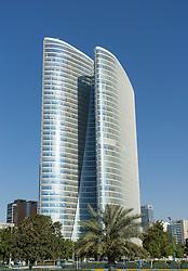 Abu Dhabi Investment Authority (ADIA) building in Abu Dhabi United Arab Emirates