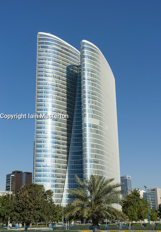 Abu Dhabi Investment Authority (ADIA) building in Abu Dhabi United Arab Emirates