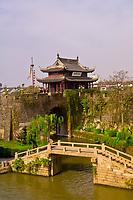 The Beijing-Hangzhou Great Canal at the Panmen City Gate, Suzhou, China
