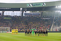 Illustration Equipe Nantes / PSG - Minute de Silence pour le Nepal - 03.05.2015 - Nantes / Paris Saint Germain - 35eme journee de Ligue 1<br /> Photo : Vincent Michel / Icon Sport