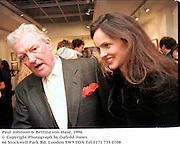 Paul Johnson & Bettina von Hase. 1996<br />© Copyright Photograph by Dafydd Jones<br />66 Stockwell Park Rd. London SW9 0DA<br />Tel 0171 733 0108