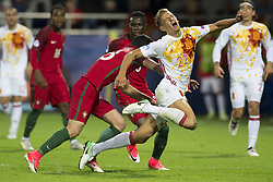 June 20, 2017 - Gdynia, Poland - Marcos Llorente of Spain fouled by Goncalo Guedes of Portugal during the UEFA European Under-21 Championship 2017  Group B match between Portugal and Spain at Gdynia Stadium in Gdynia, Poland on June 20, 2017  (Credit Image: © Andrew Surma/NurPhoto via ZUMA Press)