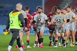 Lima Sopoaga of Wasps congratulates the opposition after the final whistle - Mandatory by-line: Nick Browning/JMP - 28/11/2020 - RUGBY - Kingsholm - Gloucester, England - Gloucester Rugby v Wasps - Gallagher Premiership Rugby