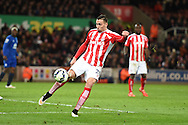 Geoff Cameron of Stoke city in action. Barclays Premier League match, Stoke city v Everton at the Britannia Stadium in Stoke on Trent , Staffs on Wed 4th March 2015.<br /> pic by Andrew Orchard, Andrew Orchard sports photography.