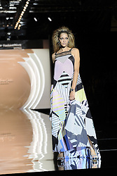 September 17, 2016 - Madrid, Spain - Model Ana Beatriz Barros showcases designs by Dolores Cortes on the runway at the Dolores Cortes show during Mercedes-Benz Fashion Week Madrid Spring/Summer 2017 at Ifema on September 17, 2016 in Madrid, Spain. (Credit Image: © Oscar Gonzalez/NurPhoto via ZUMA Press)
