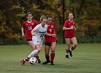 St Pauls School girls varsity soccer with New Hampton School.    ©2020 Karen Bobotas Photographer
