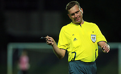 Referee Shmolik Siarhei of Belarus during 2nd match of 1st round Intertoto Cup soccer match between ND Gorica and Hibernians FC at Sports park, on June 28,2008, in Nova Gorica, Slovenia. (Photo by Vid Ponikvar / Sportal Images)