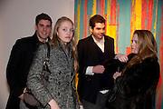 HUGO DESPOUX; LEONORE DICKER; EMANUEL DICKER; NICHOLAS CROWHURST-THORNE, Fired Up, Exhibition of work by Joe Clark, Lauren Cotton, Rory McCartney, David Jones and Farid Rasulov. Gazelli Art House. Wakefield st. London. WC1. 10 February 2011. -DO NOT ARCHIVE-© Copyright Photograph by Dafydd Jones. 248 Clapham Rd. London SW9 0PZ. Tel 0207 820 0771. www.dafjones.com.