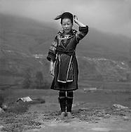 Young H'Mong girl in Sapa, Lao Cai, Vietnam, Southeast Asia, 2005.
