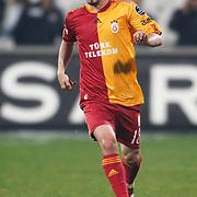 Galatasaray's Ayhan AKMAN during their Turkish Superleague Derby match Besiktas between Galatasaray at the Inonu Stadium at Dolmabahce in Istanbul Turkey on Saturday, 30 April 2011. Photo by TURKPIX
