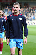 Scunthorpe United midfielder Ryan Colclough prior to the EFL Sky Bet League 1 match between Scunthorpe United and Plymouth Argyle at Glanford Park, Scunthorpe, England on 27 October 2018. Pic Mick Atkins