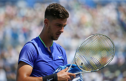 Australia's Thanasi Kokkinakis during day two of the 2017 AEGON Championships at The Queen's Club, London.