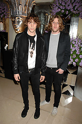 Left to right, Musicians JOHNNY BORRELL and ANDY BURROWS from Razorlight at the 10th Anniversary Party of the Lavender Trust, Breast Cancer charity held at Claridge's, Brook Street, London on 1st May 2008.<br /><br />NON EXCLUSIVE - WORLD RIGHTS