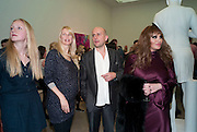 CLAUDIA SCHIFFER; MARC QUINN; ALLANAH STARR; , Marc Quinn exhibition opening. Allanah, Buck, Catman, Michael, Pamela and Thomas. White Cube Hoxton Sq. London. 6 May 2010.  *** Local Caption *** -DO NOT ARCHIVE-© Copyright Photograph by Dafydd Jones. 248 Clapham Rd. London SW9 0PZ. Tel 0207 820 0771. www.dafjones.com.<br /> CLAUDIA SCHIFFER; MARC QUINN; ALLANAH STARR; , Marc Quinn exhibition opening. Allanah, Buck, Catman, Michael, Pamela and Thomas. White Cube Hoxton Sq. London. 6 May 2010.