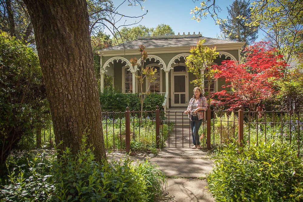 """Daniela Sklan, owner of the""""Brannan's Folly"""" house (circa 1860) on Cedar Street in Calistoga"""
