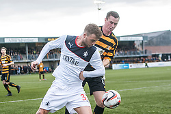 Falkirk's Rory Loy and Alloa Athletic's Stephen Simmons.<br /> Alloa Athletic 0 v 0 Falkirk, Scottish Championship 12/10/2013. played at Recreation Park, Alloa.<br /> ©Michael Schofield.