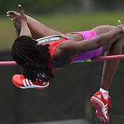 Doreen Amata, Nigeria, in action during the Women's High Jump event at the Diamond League Adidas Grand Prix at Icahn Stadium, Randall's Island, Manhattan, New York, USA. 25th May 2013. Photo Tim Clayton