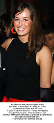 LADY ROSE INNES-KER daughter of the 10th Duke of Roxburghe, at a party in London on 29th October 2003.POA 105 woro
