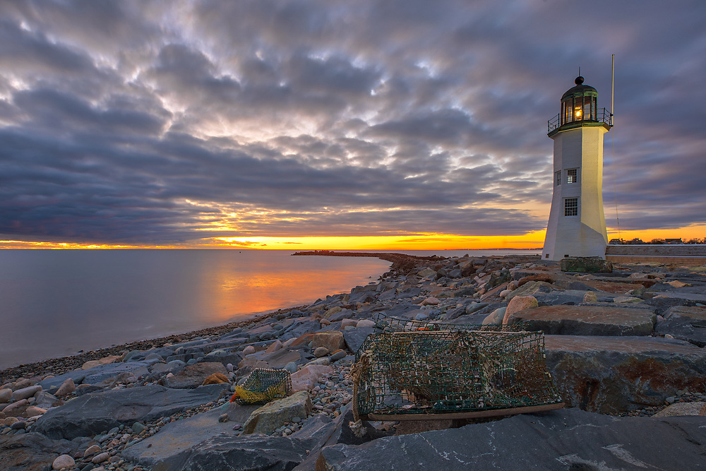 New England photography of Old Scituate Light at sunrise. This beautiful Massachusetts lighthouse is located on Cedar Point in Scituate Massachusetts.<br /> <br /> Picturesque New England lighthouse photography image are available as museum quality photography prints, canvas prints, acrylic prints, wood prints or metal prints. Fine art prints may be framed and matted to the individual liking and interior design decorating needs:<br /> <br /> https://juergen-roth.pixels.com/featured/old-scituate-light-juergen-roth.html<br /> <br /> Good light and happy photo making!<br /> <br /> My best,<br /> <br /> Juergen<br /> Photo Prints: http://www.rothgalleries.com<br /> Photo Blog: http://whereintheworldisjuergen.blogspot.com<br /> Instagram: https://www.instagram.com/rothgalleries<br /> Twitter: https://twitter.com/naturefineart<br /> Facebook: https://www.facebook.com/naturefineart