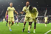 Football - 2021 / 2022 EFL Carabao Cup - Round Two - West Bromwich Albion vs Arsenal - The Hawthorns - Wednesday 25th August 2021.<br /> <br /> Arsenal's Pierre-Emerick Aubameyang celebrates scoring his side's fifth goal and his hat trick.<br /> <br /> COLORSPORT/Ashley Western
