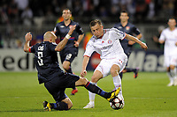 FOOTBALL - UEFA CHAMPIONS LEAGUE 2009/2010 - 1/2 FINAL - 2ND LEG - OLYMPIQUE LYONNAIS v BAYERN MUNCHEN - 27/04/2010 - PHOTO JEAN MARIE HERVIO / DPPI - IVICA OLIC (BAY) / CRIS (OL)