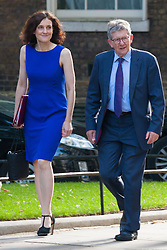 London, July 22nd 2014. Theresa Villiers MP, left,<br /> Secretary of State for Northern Ireland arrives for the  cabinet meeting at Downing Street