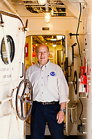 Portraits of Rick Spinrad;  Chief Scientist for NOAA. Shot on the Bell M. Shimada, a fishing research vessel docked in Newport, Oregon.