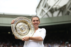 July 13, 2019 - London, England - LONDON, ENGLAND - JULY 13:  Simona Halep  attend the Women's Singles Final of the Wimbledon Tennis Championships at All England Lawn Tennis and Croquet Club on July 13, 2019 in London, England...People:  Simona Halep. (Credit Image: © SMG via ZUMA Wire)