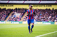 LONDON, ENGLAND - MARCH 31: Patrick van Aanholt (3) of Crystal Palace during the Premier League match between Crystal Palace and Liverpool at Selhurst Park on March 31, 2018 in London, England.