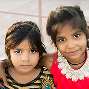 Portrait of two girls in Jodhpur