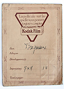 vintage Kodak film and prints envelope 1910s France