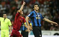 24-08-2008 Milano Italy sport calcio Inter-Roma Supercoppa Italiana 2008 nella foto : de rossi esultanza 1-1   ph. Davide Elias / Agenzia Insidefoto