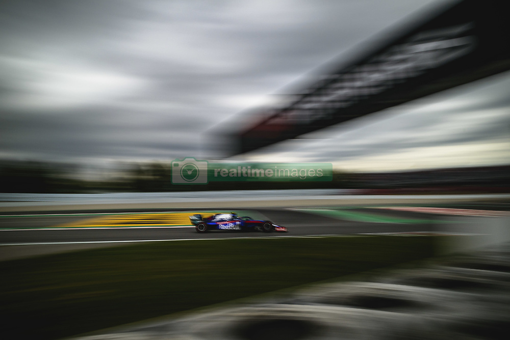 May 11, 2019 - Barcelona, Catalonia, Spain - ALEXANDER ALBON (THA) from team Toro Rosso drives in his STR14 during the third practice session of the Spanish GP at Circuit de Catalunya (Credit Image: © Matthias Oesterle/ZUMA Wire)