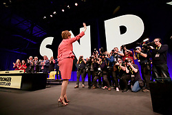 Nicola Sturgeon facing photographers after addressing the SNP annual conference in Glasgow. pic copyright Terry Murden @edinburghelitemedia