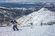 Hiking Highland Bowl in Aspen, Colorado.