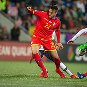 ANDORRA LA VELLA, ANDORRA. June 1.  Victor Rodriguez #22 of Andorra in action during the Andorra V France 2020 European Championship Qualifying, Group H match at the Estadi Nacional d'Andorra on June 11th 2019 in Andorra (Photo by Tim Clayton/Corbis via Getty Images)