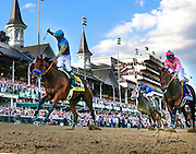 American Pharoah with Victor Espinoza up wins the 141st running of the Kentucky Derby at Churchill Downs May 2, 2014. Photo by Mark Cornelison | Staff